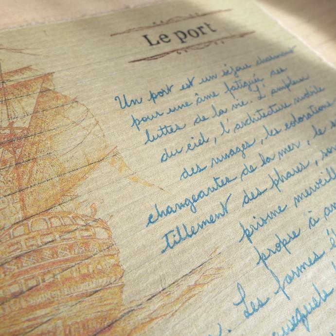 Le port de Charles Baudelaire, vue rapprochée