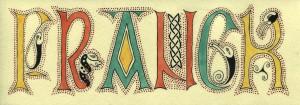 marque page lettrine celtique