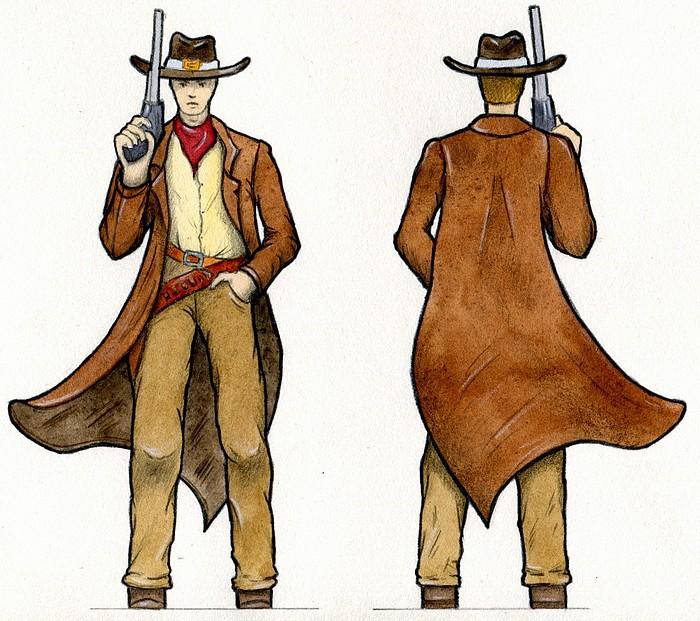 cowboy aquarelle